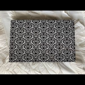 Accessories - Black and white lap desk with cute paisley print